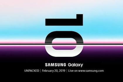 Samsung Galaxy S10 Di Luncurkan 20/02/2019