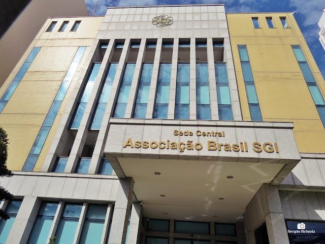 Vista da fachada da Associação Brasil SGI - Liberdade - São Paulo