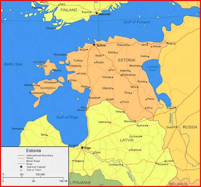 Gambar Peta Estonia