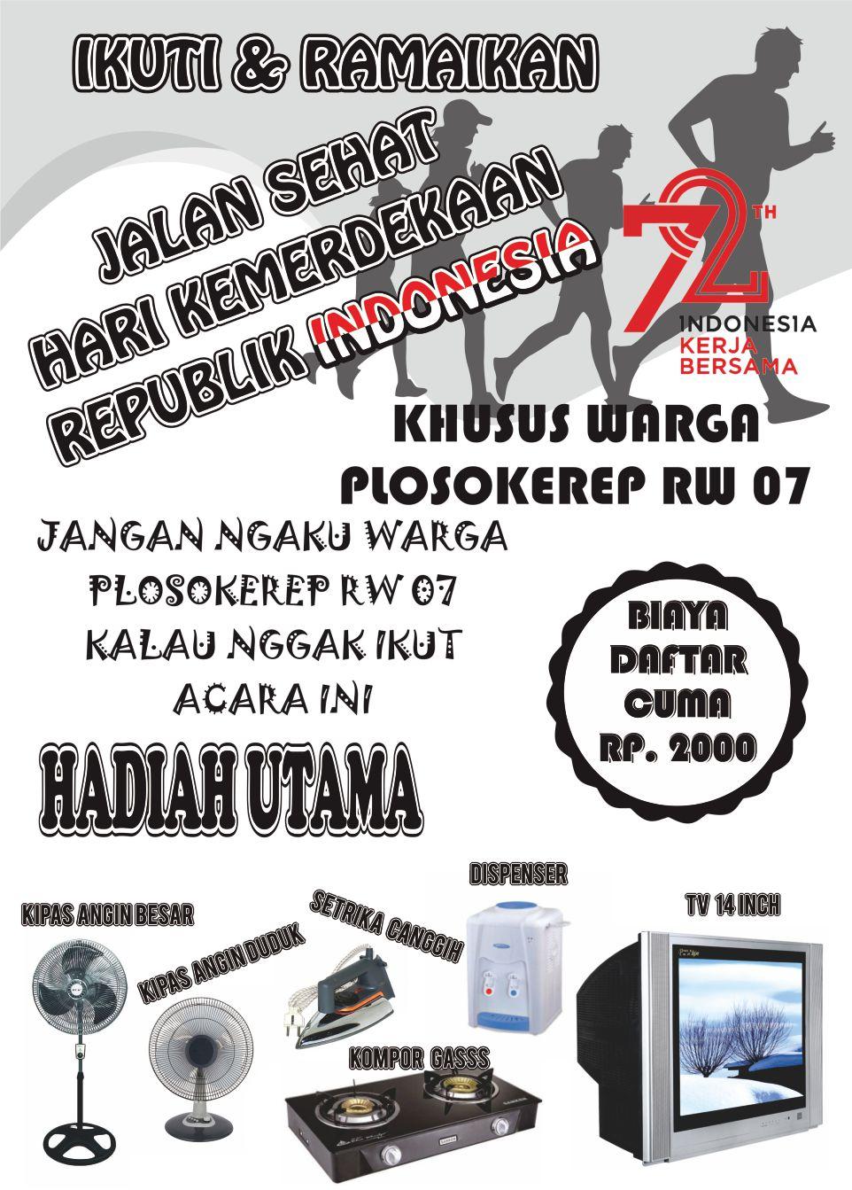 Download Pamflet  Brosur Gerak Jalan Format CorelDRAW