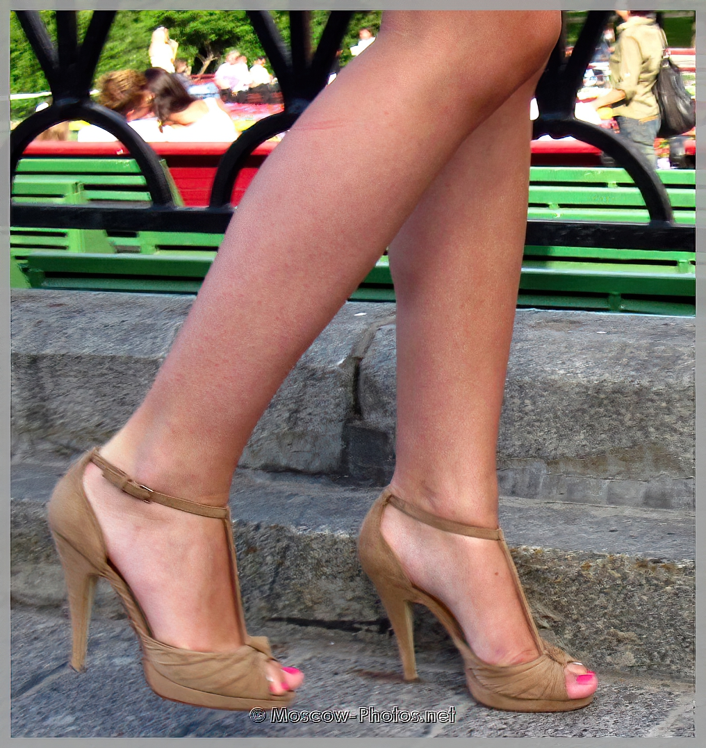 Summer casual cream high heeled shoes