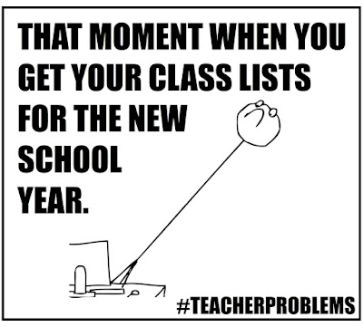 When you get your new class lists... #teacherproblems