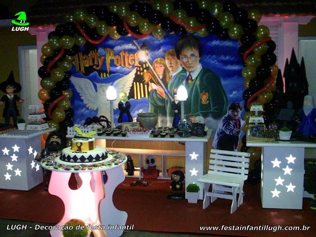 Decoração Harry Potter provençal luxo para festa de aniversário infantil