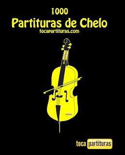 "Partituras de Chelo ""1000 Partituras para tocar con tu Violonchelo"" tocapartituras.com"