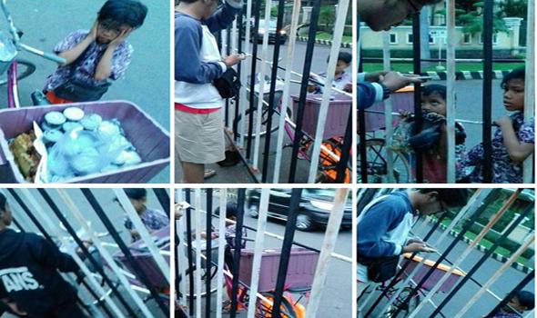 Semangat Panca Dan Fatin Berjualan Jajanan Di Plaza Marina, Surabaya