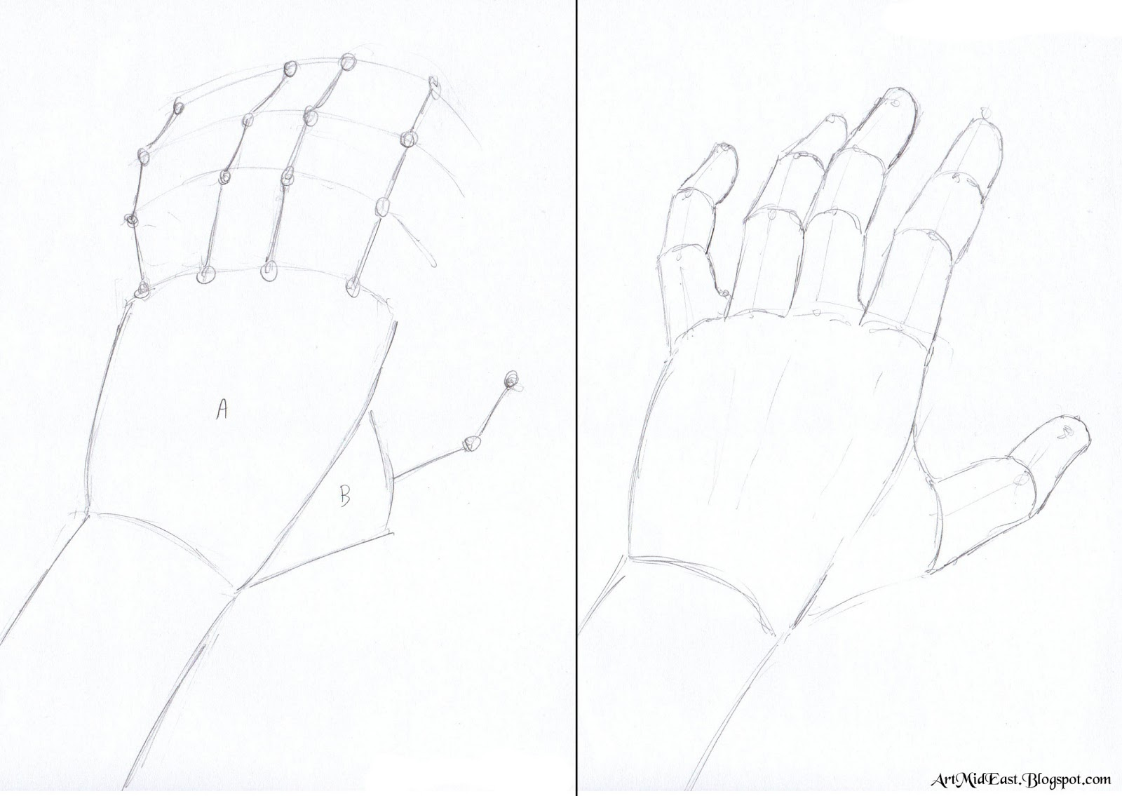 How to draw hands easy step by