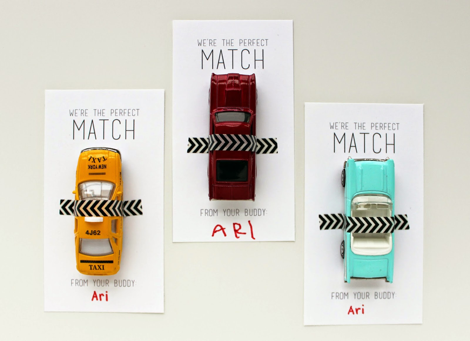 Love And Lion Matchbox Cars Valentines Free Printable
