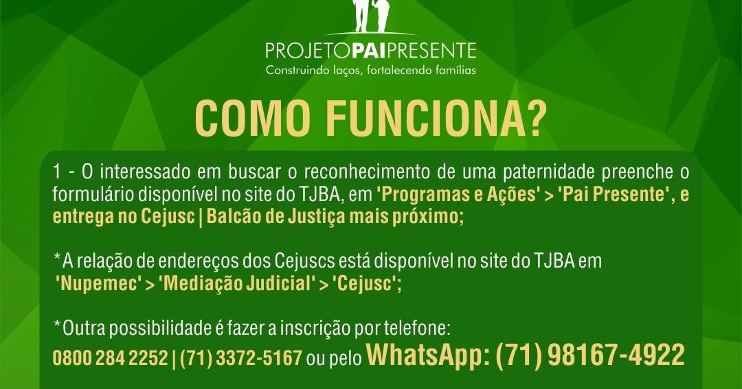 148703b8b2903d Jornal Opinião: TJBA - Projeto Pai Presente recebeu 322 solicitações ...