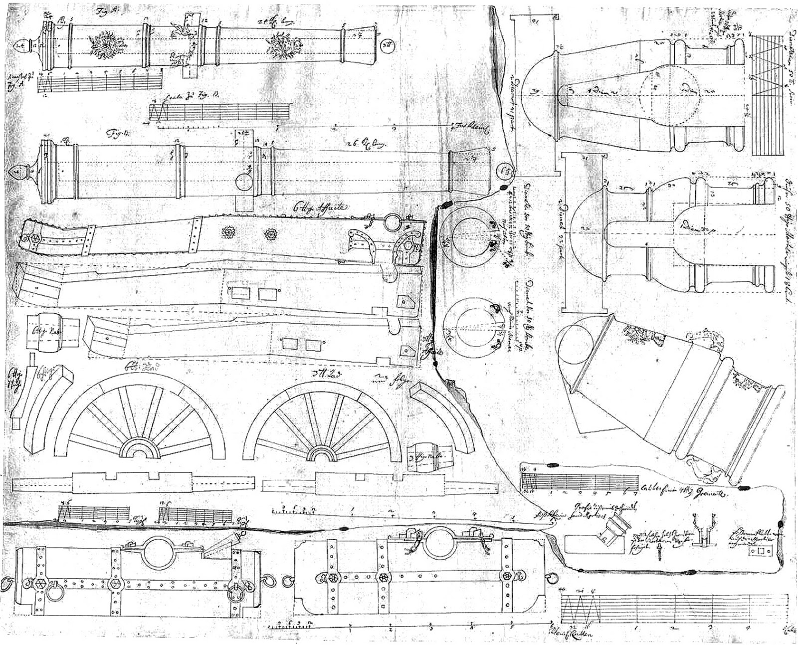 My Seven Year S War Prussian Syw Artillery Scale Drawings