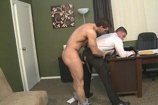 gay boss office porn