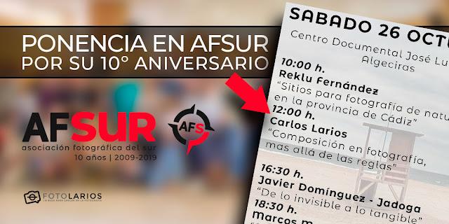 Ponencia en AFSur por su 10º aniversario