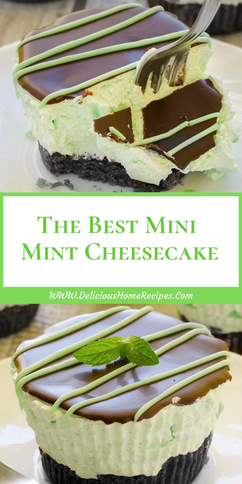 The Best Mini Mint Cheesecake