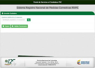 Certificado Sistema Registro Nacional de Medidas Correctivas RNMC