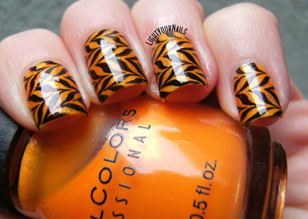 Halloween stamped marble