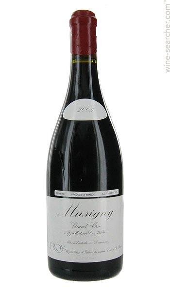 Domaine Leroy Musigny Grand Cru adalah wine paling mahal di dunia