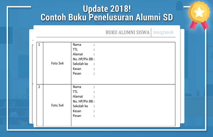 Contoh Buku Penelusuran Alumni SD