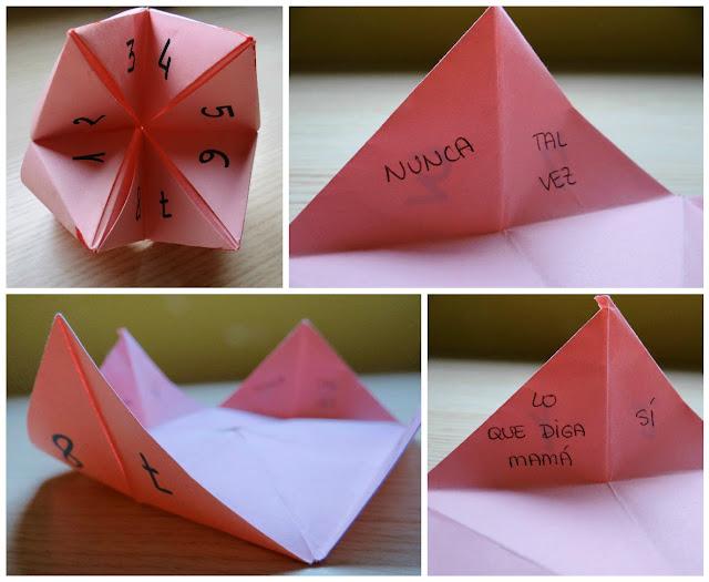 Que decida el azar: comecocos de papel