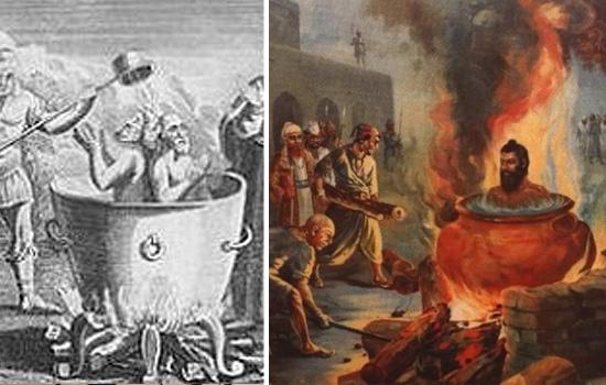 Torturas Medievais - Caldeirão de óleo