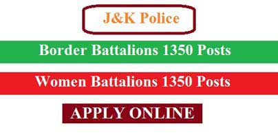Constable (2700 Posts) JK Police Border Area Fresh Recruitment 2019 Login @jkpolice.gov.in