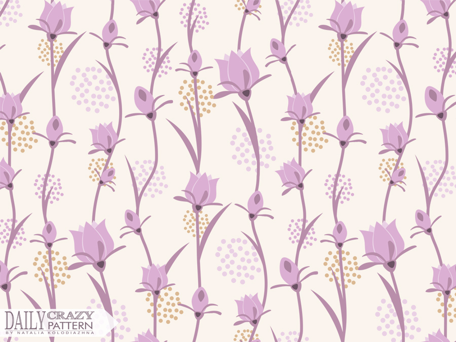 "Nice floral artprint for ""Daily Crazy Pattern"" project by Natalia Kolodiazhna"