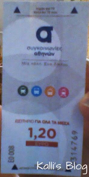 Νέο εισιτήριο ΜΜΜ