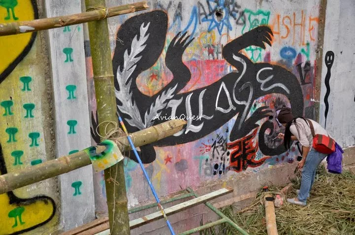 Tamawan Village Making of a Graffitti Mural Baguio City Philippines 70