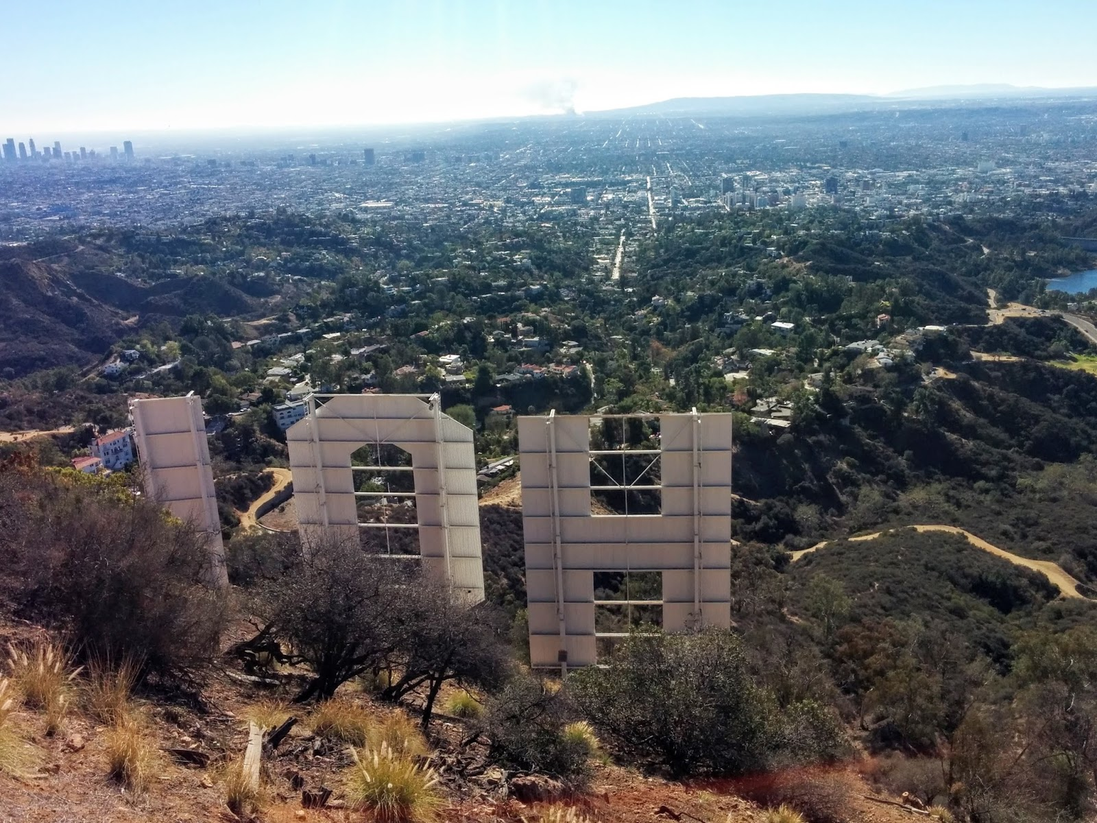 View from LA Hollywood Sign Hike Los Angeles California