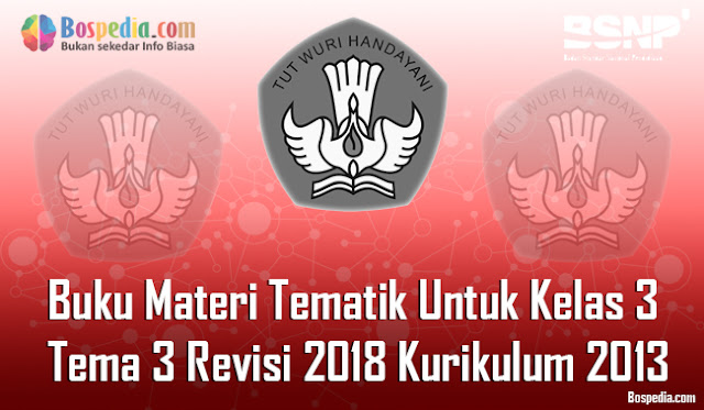 Lengkap -  Buku Materi Tematik Untuk Kelas 3 Tema 3 Revisi 2018 Kurikulum 2013