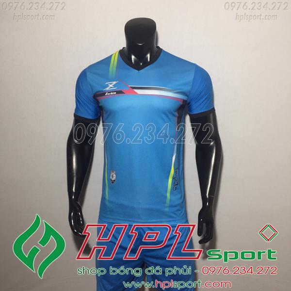 Áo bóng đá ko logo Zavikia HAT Zavi Màu Xanh Nhạt
