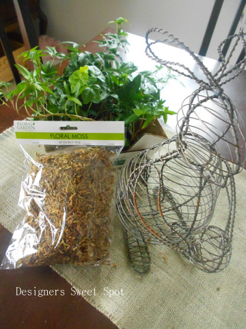 Bunny Topiary materials