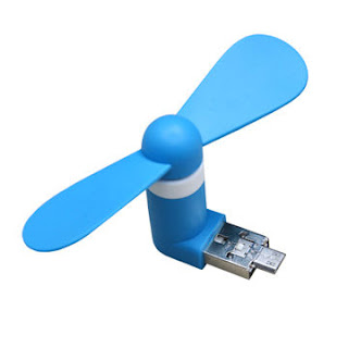 2 In 1 Micro Usb Mobile Phone Fan Portable Flexible Mini