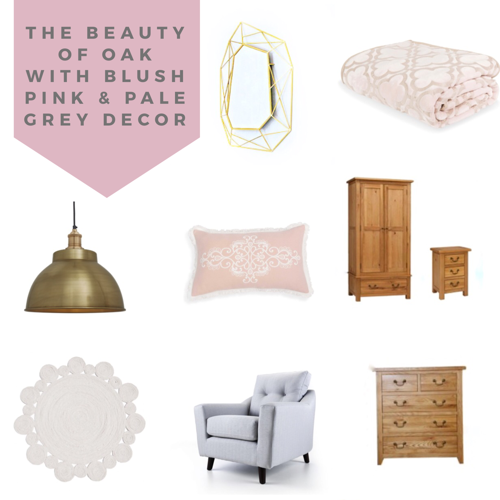 The Beauty Of Oak With Blush Pink And Pale Grey Mimi Rose And Me