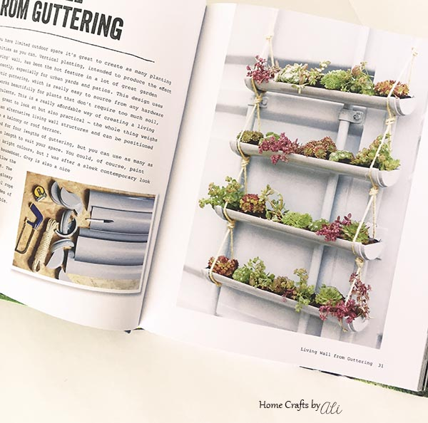 raingutter hanging succulent planter tutorial diy