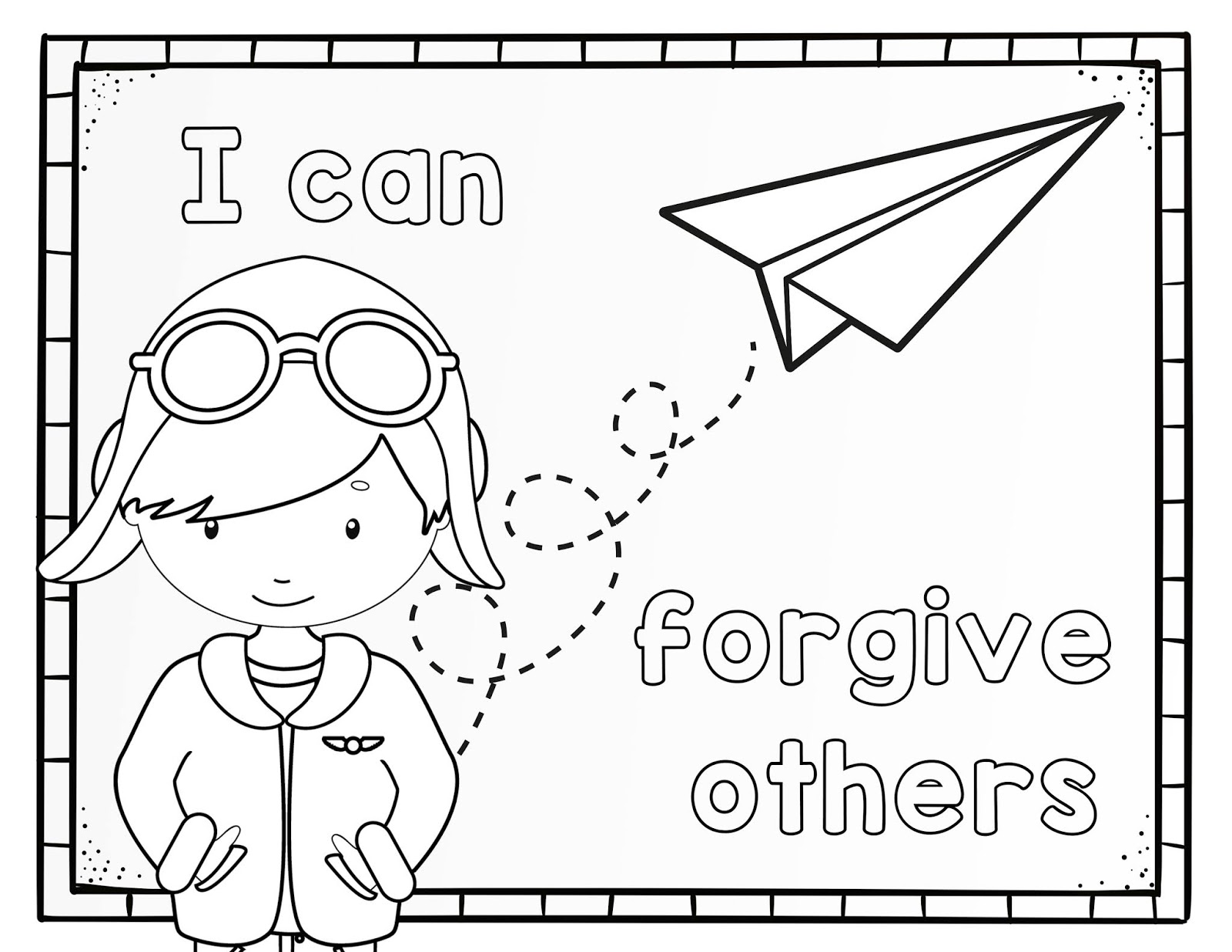 Coloring pages about forgiveness ~ The Cozy Red Cottage
