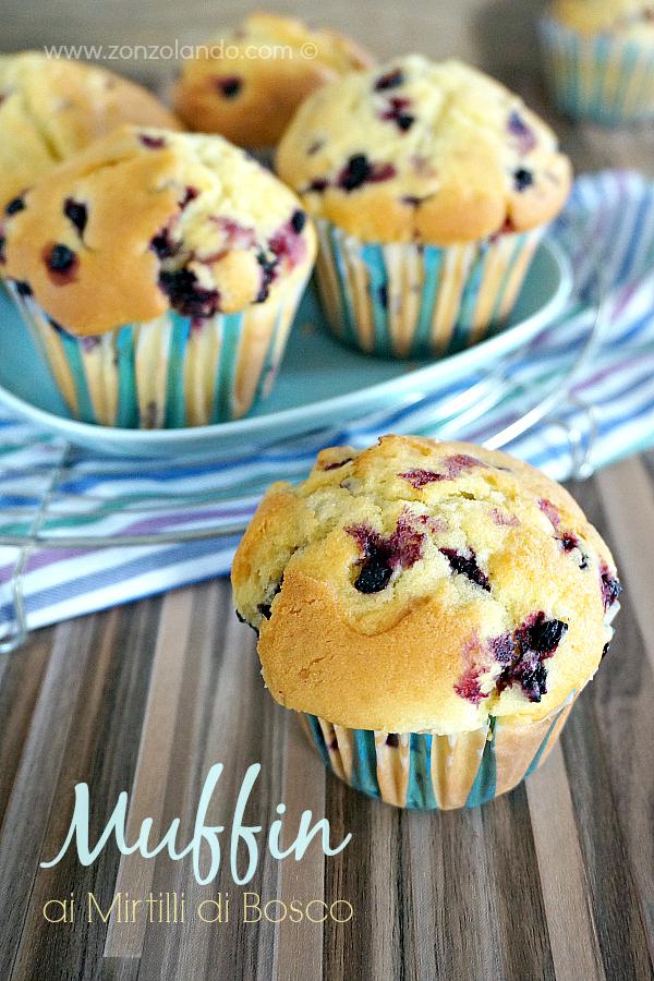 Ricetta muffin ai mirtilli frutti di bosco perfetta perfect blueberry muffin recipe