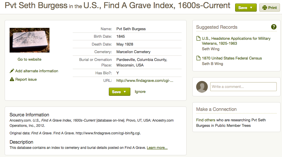 Find Your Ancestor's Burial Location Using Find A Grave