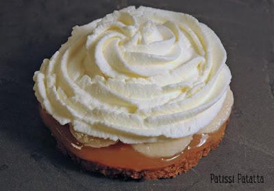 recette de banoffee, dessert anglais, banoffee pie, banane, caramel, crème, patissi-patatta, dessert,