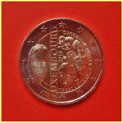 2 Euros Luxemburgo 2015 Nassau Weilburg