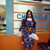 Toolz stuns in new Kitenge Fashion Dress.