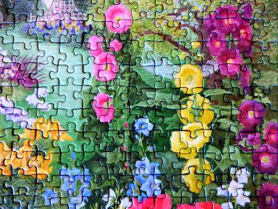 Ravensburger puzzles, garden scenes