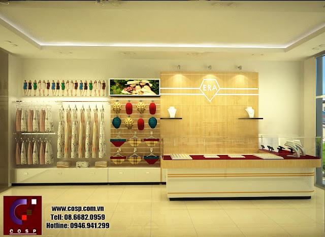 thiết kế cửa hàng phụ kiện thời trang phong cách hiện đại
