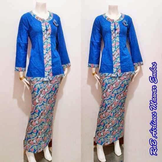 Model Baju Batik Wanita 2015: Model Baju Batik Setelan Wanita Terbaru
