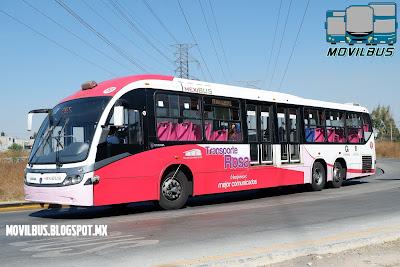 scania neobus mega brs transporte rosa mexibus
