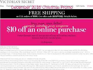 Victoria's Secret coupons for december 2016