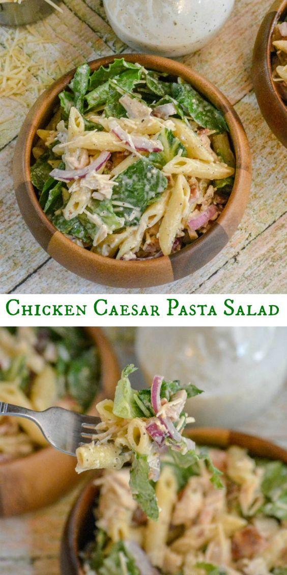 CHICKEN CAESAR PASTA SALAD #chicken #chickenrecipes #caesar #pasta #pastarecipes #easypastarecipes #salad #saladrecipes