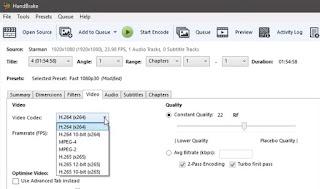 Kompres Video untuk Mengecilkan Ukuran File dengan Cara Mengatur video codec