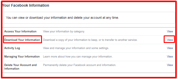 Retrieve Archived Facebook Messages