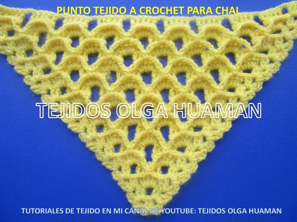 Tejidos Olga Huaman Puntos A Crochet Para Tejer Chal Triangular