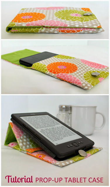 Prop-Up TabletProp-Up Tablet Case | Step-by-step directions how to sew an envelope case, custom fit to cover ANY size tablet with a prop-up stand built right into the flap. | The Inspired Wren Case | Step-by-step directions how to sew an envelope case custom fit to cover ANY size tablet with a prop-up stand built right into the flap. | The Inspired Wren