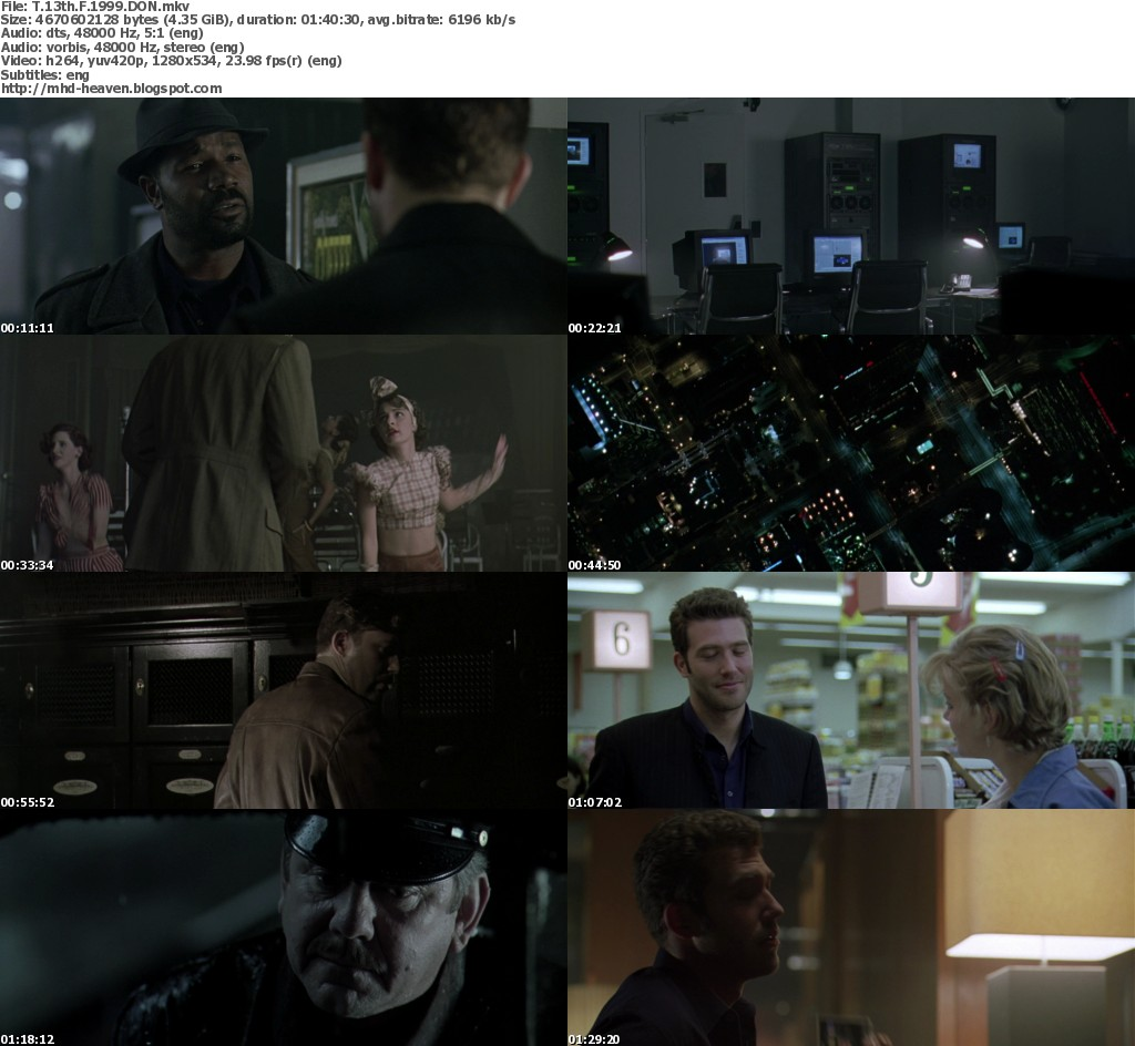 The Thirteenth Floor 720p BluRay DTS X264 (1999
